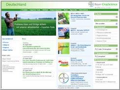 Screenshot der Startseite der Bayer CropScience Deutschland GmbH