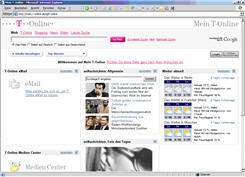 Screenshot der Einstiegsseite zur Personalisierung