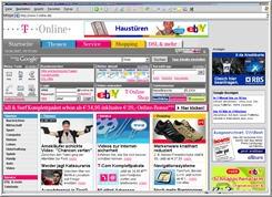 Einstiegsseite T-Online Portal