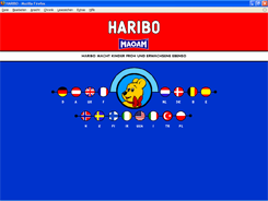 WebSite der Haribo GmbH