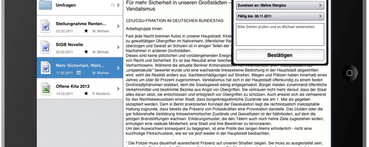 GovPad für das iPad